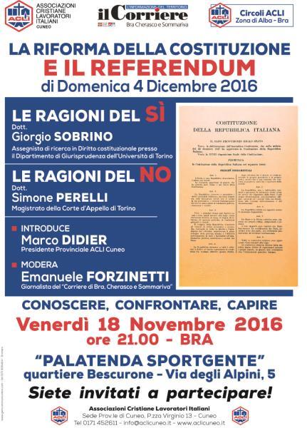 Referendum: prossimi appuntamenti