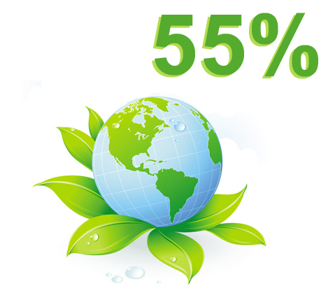 RISPARMIO ENERGETICO 55%